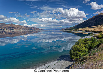 Scenic View of Lake Hawea