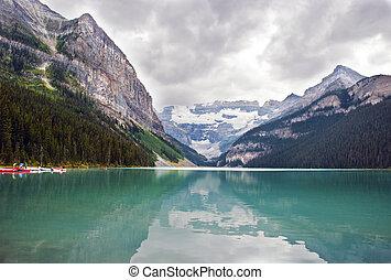 Scenic View of Lake Louise, Banff National Park, Alberta , Canada