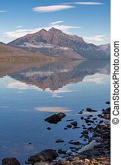 Scenic view of Lake McDonald near Apgar in Montana