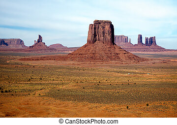 Scenic view of Monument Valley in Utah