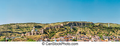 Scenic View Of Narikala Fortress And Bethlehem Church In...