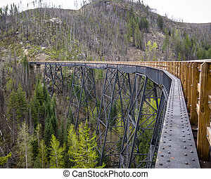 Scenic view of Old Train Trestles, now part of Trans Canada...