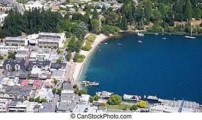 Scenic view of Queenstown, New Zealand
