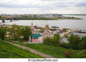 Scenic view of summer Nizhny Novgorod
