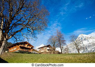 Scenic view of Swiss Alps