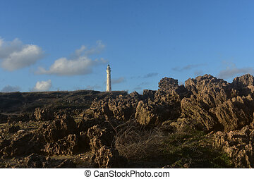Scenic View of the California Lighthouse in Aruba