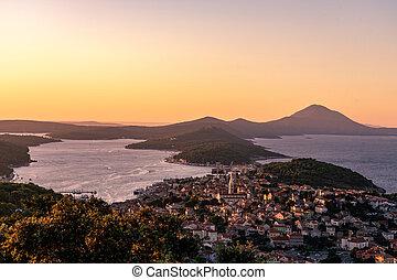 scenic view of the croatian losinj islands in the kvarner ...