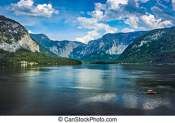 Hallstatt lakeside village in Austria