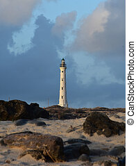 Scenic View of the Lighthouse in North Aruba
