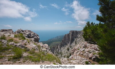 Scenic View of the Mountains and Sea Ai Petri - views of the...