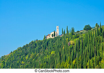 Scenic view of Tuscany landscape