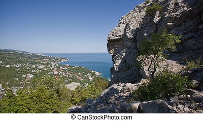 Scenic View of Yalta From Mountain - a scenic view of the...
