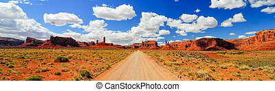 Scenic View through Valley of the Gods