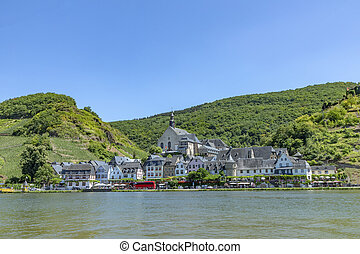 view to village Beilstein in the Moselle valley