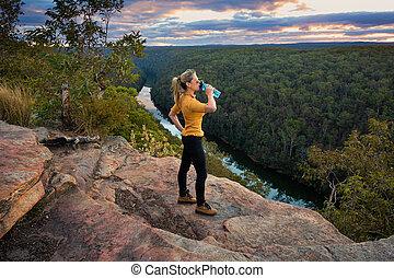Scenic views bushwalking Blue Mountains Australia