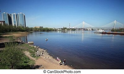 scenic views of the River Neva  tim