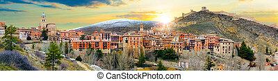 Scenic village landscape. Albarracin. Spain