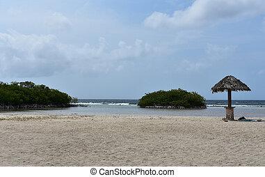 Beautiful white sand beach at Mango Halto in Aruba.