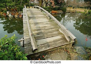 scenic wooden bridge