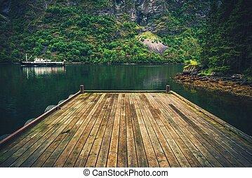 Wooden Fjord Deck