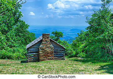scenics along blue ridge parkway in west virginia - blue...