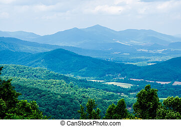 scenics along blue ridge parkway in west virginia - blue...