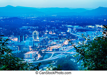 scenics, mindenfelé, darál, hegy, roanoke, virginia, usa