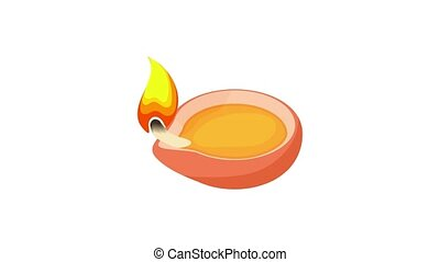 Scented candle icon animation best object on white background