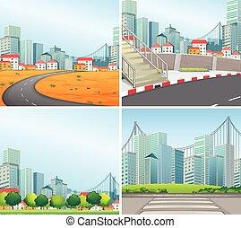 sceny miasta