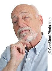 sceptique, personne agee, -, homme