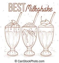 Scetch set milkshakes