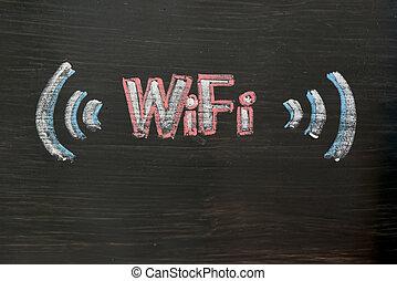 schéma craie, de, wifi