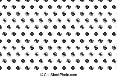 schéma pignon, illustration, vecteur, arrière-plan noir, blanc