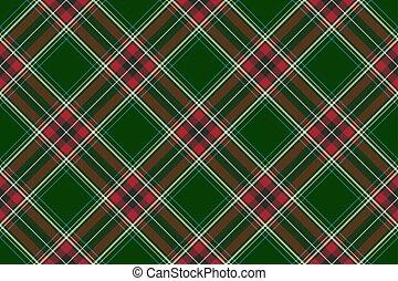 schéma structure, seamless, texture, diagonal, vert, chèque, rouges