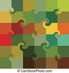 schéma tourbillon, multicolore, carrés