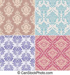 schémas floraux, seamless