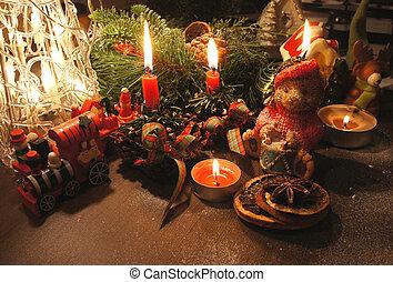 sch ne kerzen kranz weihnachten kerzen kranz bild suche foto clipart csp23158973. Black Bedroom Furniture Sets. Home Design Ideas