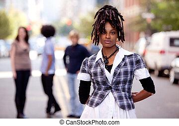 schöne , afrikanischer amerikaner