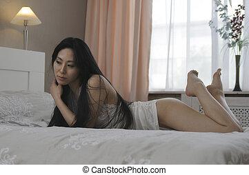 schöne , asiatische frau