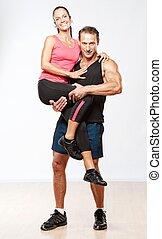 schöne , athletische, ehepaar.