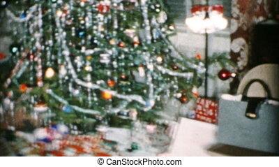 schöne , baum, festlicher, weihnachten