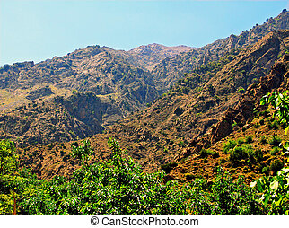 schöne , berge, sonniger tag, ansicht
