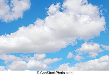 schöne , blauer himmel, mit, weiße wolken
