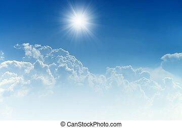 schöne , blauer himmel