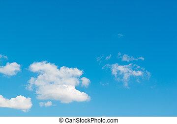 schöne , blaues, heller himmel, hintergrund.