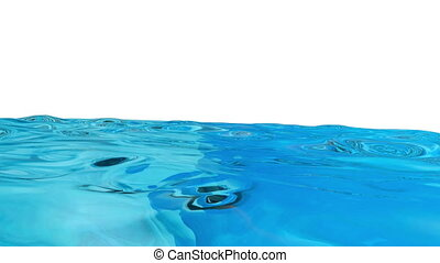 schöne , blaues, langsam, kugel, flüssiglkeit, bach, sehr, ...