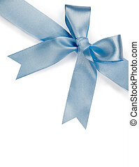 schöne , blaues, weißer hintergrund, schleife