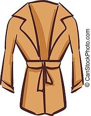 schöne , brauner, farbe, mantel, abbildung, vektor, oder, frauen
