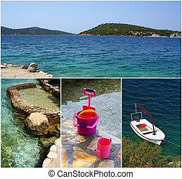 schöne , bucht, bei, rogoznica, stadt, makarska, rivera, dalmatien, kroatien