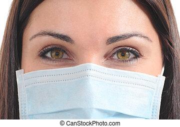 schöne , chirurg, mit, a, maske